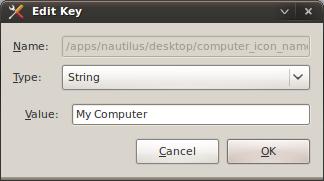 Edit key