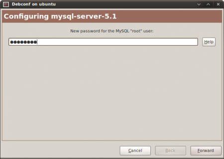 Enter new MySQL root password