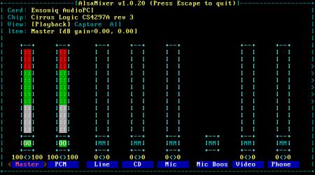 Ubuntu server: install Alsa sound and MOC (Music On Console