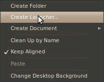 Menu: Create Launcher